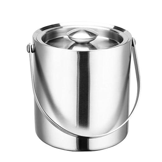 Compra YZBT-ice bucket Doble Pared Cubitera, Aislante Sin ...