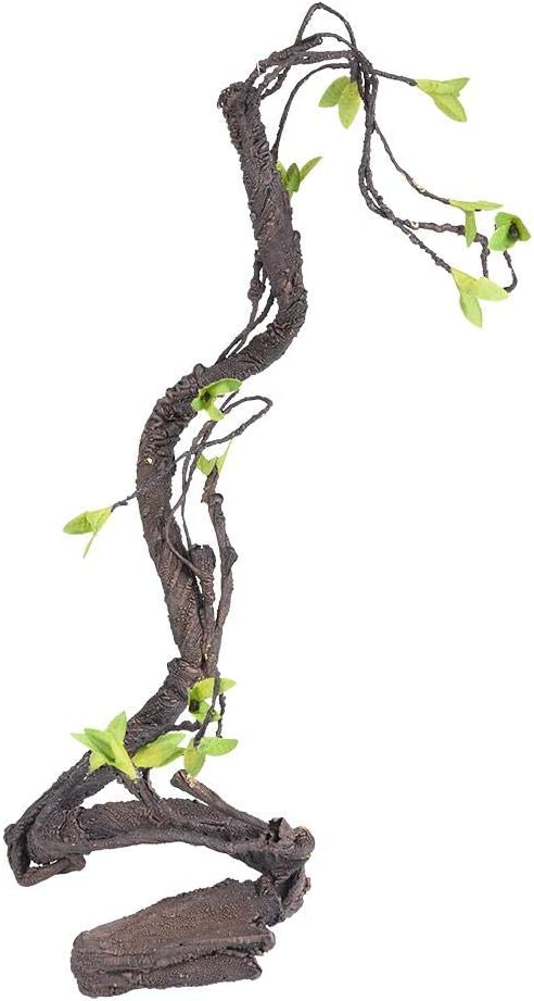 HEEPDD Reptile Vine, Artificial Rattan Climbing Jungle Forest Bend Branch Terrarium Cage Habitat Decor for Lizard Spider Chameleon Snakes Gecko Other Small Animals