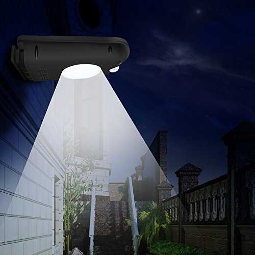 Maiicy Solar Lights Outdoor Waterproof , Wireless 12 LEDs Motion Sensor  Solar Step Lights,Easy Install Waterproof Security Lights For Front Door,  ...