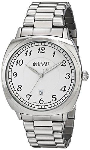 Diamond Self Winding Bracelet (August Steiner Men's AS8160SS Silver-Tone Watch with Link Bracelet)