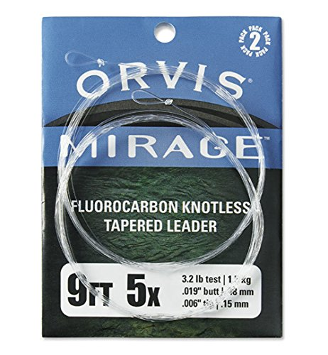 (Orvis Fly Fishing Mirage Knotless Leader - 2 Pack)