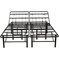 Classic Brands Hercules Heavy-Duty Adjustable Platform 14-Inch Metal Bed Frame | Mattress Foundation or Box Spring, Full
