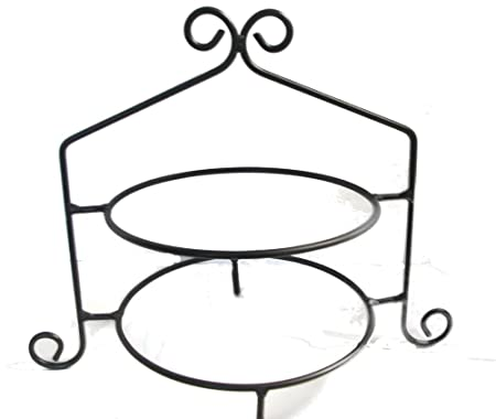 Wrought Iron Pie Stand Rack Double Tier Hand Made