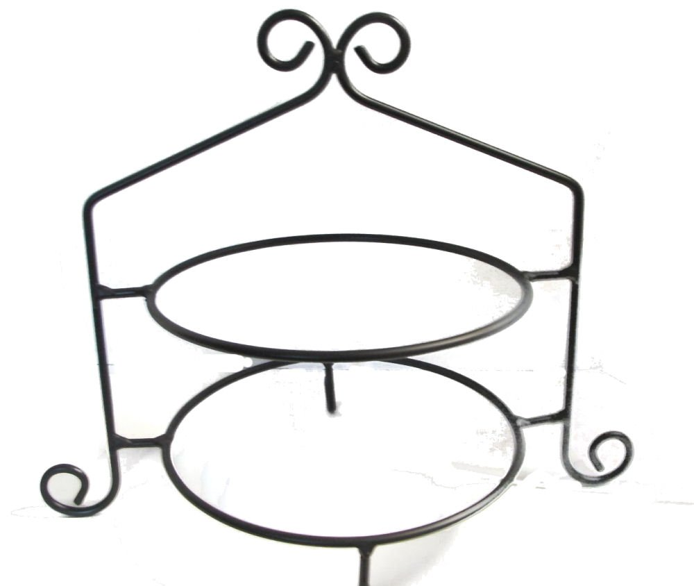 Wrought Iron Pie Stand/Rack Double Tier Hand Made
