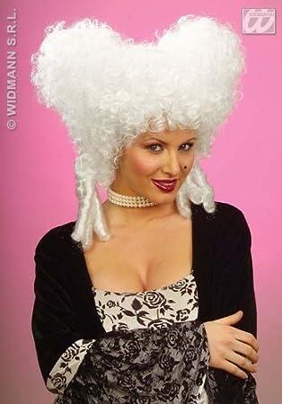 Damenperucke Weiss Beehive Frisur Im Barock Stil Amazon De Spielzeug
