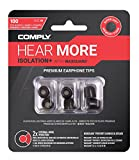 Comply Isolation Plus Noise Cancelling Memory Foam Earphone Tips for Etymotic, Klipsch, Shure, Westone, LG HBS-1100 & More, Premium Replacement Noise Reducing Earbud Tips, Tx-100 (Medium, 3 Pairs)