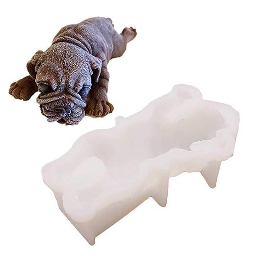 Molde para Hornear Pastel de Perro 3D Moldes de Silicona Animal Moldes para Bandejas para Hacer Pasteles y Jabón Hecho a Mano: Amazon.es: Hogar