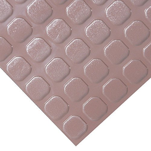 - Rubber-Cal Block-Grip Rubber Runner Mat - 2mm x 4ft x 6ft Rubber Rolls - Brown