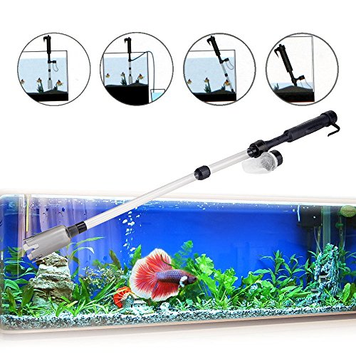 Hong Kong National Costume Kids (Gravel Cleaner Tools Aquarium Fish Tank Battery Power Siphon Vacuum Water Change)