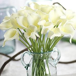 Angel3292 1Pc Artificial Calla Lily Silk Flower Bridal Bouquet Wedding Home Romantic Decor 4