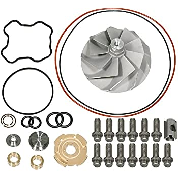 APDTY 139976 Turbo Vane Wheel & Gasket Rebuild Kit Fits 1994-2003 Ford Powerstroke 7.3L Turbo Diesel (Repairs F81Z-6K682-BARM, 446579-0001, 817-1004-002F, ...