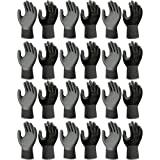 Atlas Fit 370 Showa Black Medium Nitrile Gardening Work Gloves, 144-Pairs