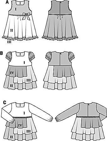 Amazon.com : BURDA KIDS 9401 GIRLS DRESS (3 STYLES) SIZE: 2-7 ~ SEWING PATTERN : Everything Else