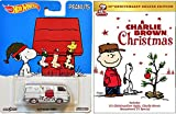 A Charlie Brown Christmas DVD & Hot Wheels Snoopy - Charlie Brown Christmas Deluxe Edition + Hot Wheels Holiday Woodstock van and gang Limited Edition Car Animated Cartoon Movie Set