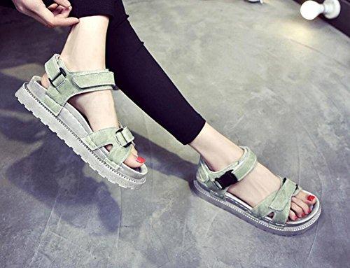 2017 zapatos salvajes de las sandalias gruesas de las nuevas sandalias del verano 3