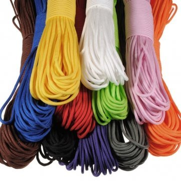 1 of 11 color: 550 100FT Nylon Desert Parachute Cord for Outdoor Survival (Color:Black)
