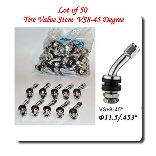 Wholesales Price (50 Kits) VS-45/VS-8-45° Chrome Tire Valve Stem for Holes Φ11.5 mm/.453