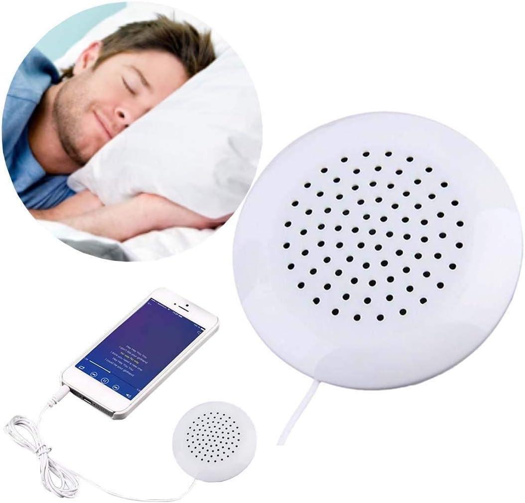Jowtom Mini White 3.5mm Pillow Portable Speaker for Mp3 iPhone 4 4S 4G 3GS MP4 Speaker