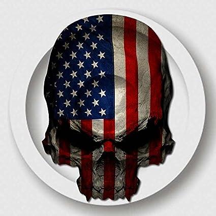 amazon com american flag skull decal usa military sticker automotive