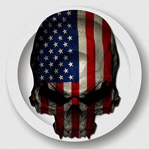 American Flag Skull Decal USA Military Sticker
