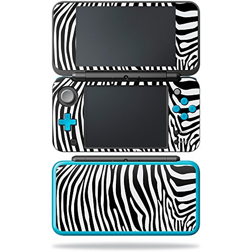 MightySkins Skin Compatible with Nintendo New 2DS XL - Black Zebra   Protective, Durable, and Unique Vinyl Decal wrap Cover   Easy to Apply, Remove, and Change Styles   Made - Zebra Skin New