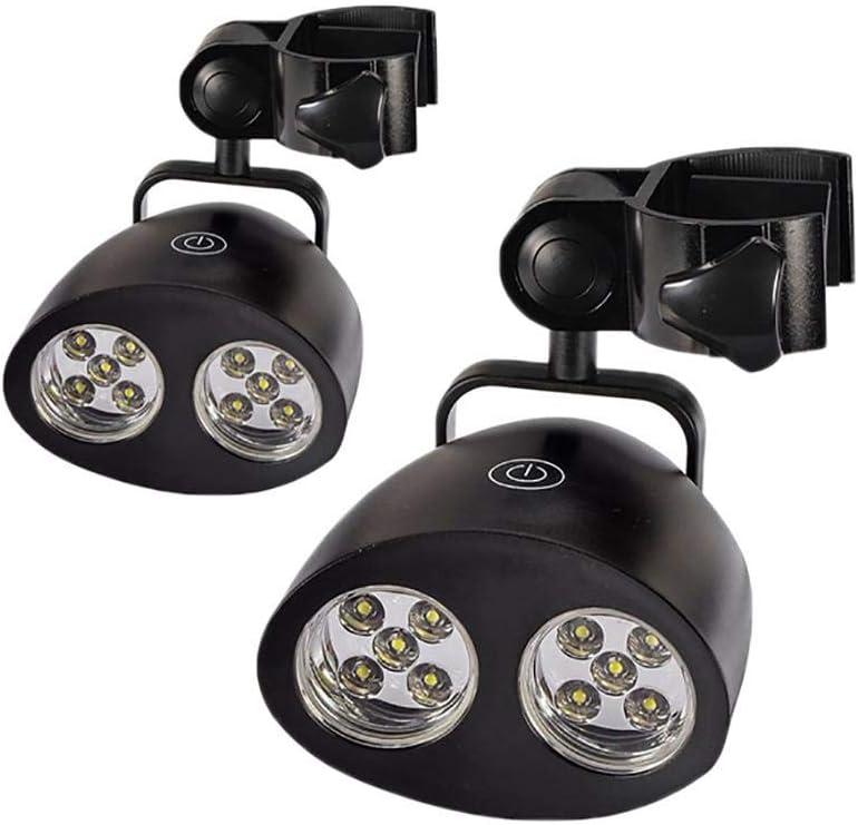 GUO Lámparas de Barbacoa, rotación 360 Grados, 10 LED de Gas de Barbacoa, lámparas de Barbacoa, 3 Grados de luz