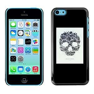 Be Good Phone Accessory // Dura Cáscara cubierta Protectora Caso Carcasa Funda de Protección para Apple Iphone 5C // Skull Poster Minimalist White Black
