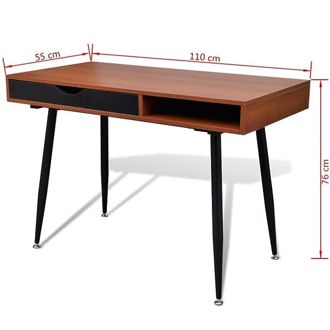 SENLUOWX Escritorio Marrón para Ordenador Portátil Ser Usado en Las Oficinas Estudios 110 x 55 x 76 cm110 x 55 x 76 cm: Amazon.es: Hogar