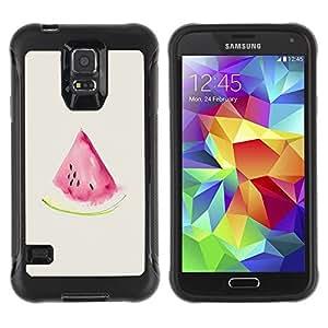 Suave TPU GEL Carcasa Funda Silicona Blando Estuche Caso de protección (para) Samsung Galaxy S5 V / CECELL Phone case / / Watercolor Watermelon Beige Pink Fruit /