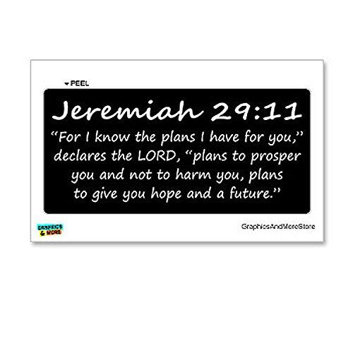 Jeremiah 29 11 Christian Window Sticker