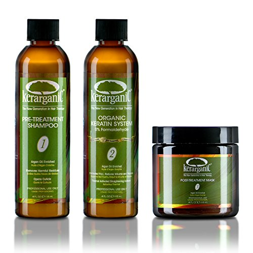 KERARGANIC KERATIN TREATMENT SET - ORGANIC - FORMALDEHYDE FR
