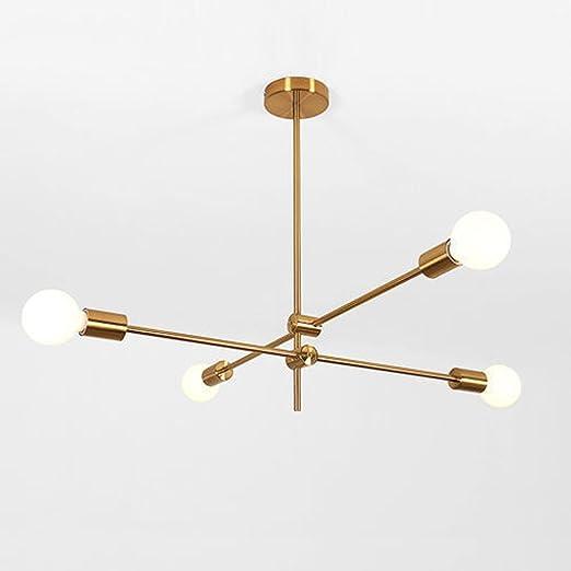 Iluminación de araña Sputnik de 4 luces, iluminación ...