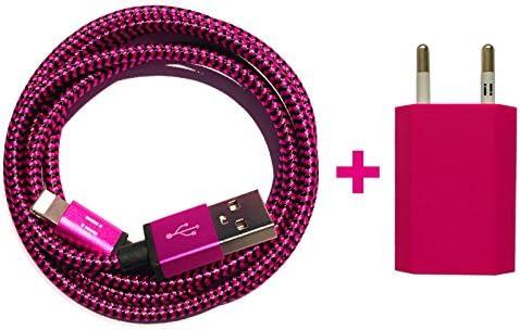 Nylon USB de 8 pin cable de carga Cable de datos cargador compatible con [Apple iPhone 10 x 8 8plus 7 7Plus 6S 6splus 6 6plus 5s 5 C 5 se | iPad | ...