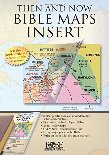 Rose Bible Map Insert - fits in the back of your ()