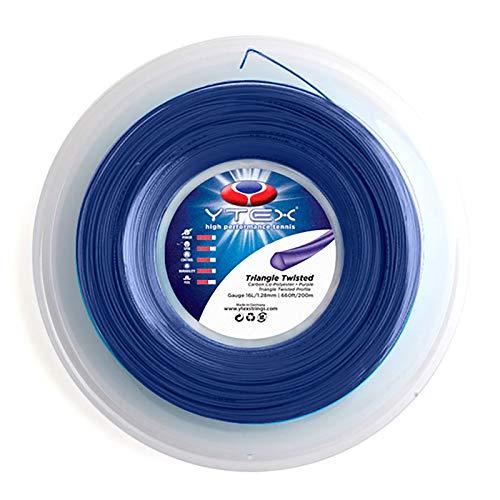 (YTEX Triangle Twisted Purple Tennis Racquet String Reel (16L Gauge, 1.28mm))