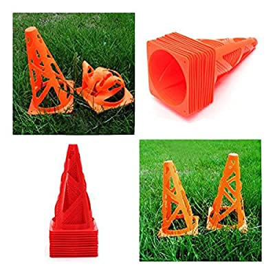 "12 pcs 9"" inch Soccer Football Trainning Cones Fitness Agility Field(Color Random)"