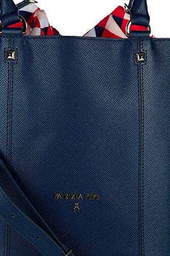 Patrizia Pepe Schultertasche Damen Tasche Umhängetasche Bag blu