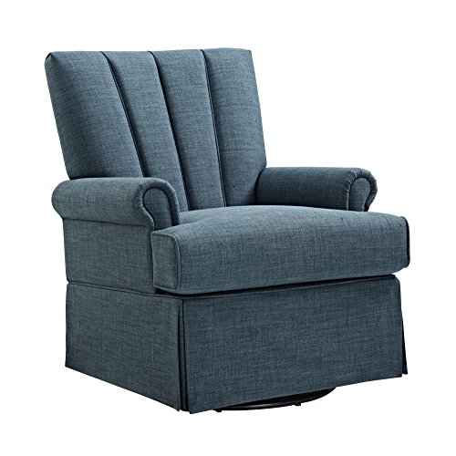 Baby Relax Parsons Swivel Glider, Indigo Blue by Baby Relax