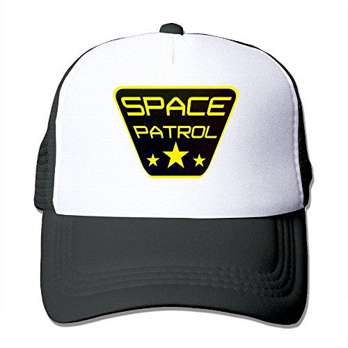 Texhood Space Patrol Cool Trucker Hat One Size Black