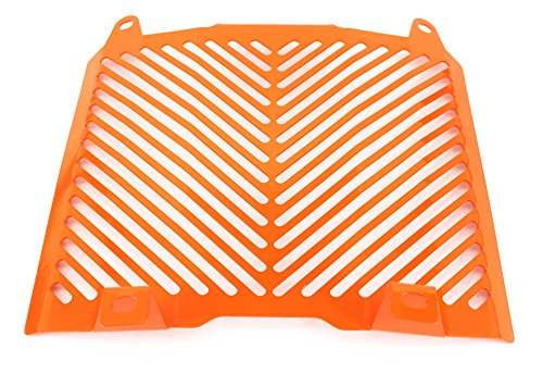 - HTTMT 298003- Radiator Grille Protection Water Tank Guard Compatible with KTM 690 Duke 2012-2017 Orange