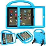 LEDNICEKER Kids Case for iPad 2 3 4 - Built-in Screen Protector Light Weight Shock Proof Handle Friendly Convertible Stand Kids Case for iPad 2, 3rd Gen, 4th Generation - Blue