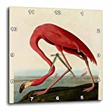 3dRose dpp_48221_2 Vintage Pink Flamingo-Wall Clock, 13 by 13-Inch For Sale