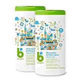 : Babyganics All Purpose Surface Wipes, Fragrance Free, 150 Count (contains Two 75-count canisters)
