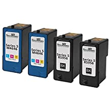 Speedy Inks - 4 Pack 2 Black 2 Color Remanufactured Replacement Dell Series 5 HY Inks Cartridges M4640 M4646 For use in Dell Photo all-in-one 922, 924, 942, 944, 946, 962, & 964