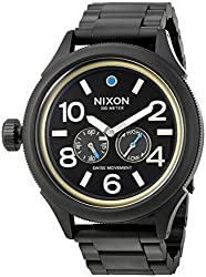 Nixon Men's 'October Tide' Quartz Metal and Stainless Steel Watch, Color:Black (Model: A4742209-00)