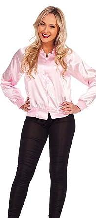 39f7755e2e9 50s Jacket Ladies Pink Satin Fancy Dress Plus Size 4-26 Costume Hen Night  Women 60s 70s