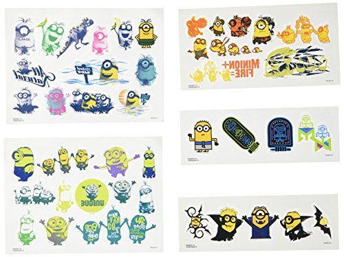 Despicable Me Minions Tattoos ~ 150 Minions Temporary Tattoos (Minions Party Favors) ()