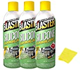 B'laster 16-SL Industrial Strength Silicone Lubricant 11 oz 3 Pack Bundle