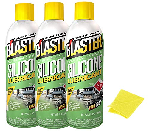 B'laster 16-SL Industrial Strength Silicone Lubricant 11 oz 3 Pack Bundle by B'laster
