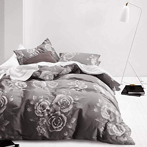 Gray Floral Duvet Cover Set 100 Duvet Cover Sets